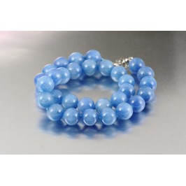 Náhrdelník z korálů - modrý