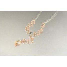 Náhrdelník s meruňkovými krystaly