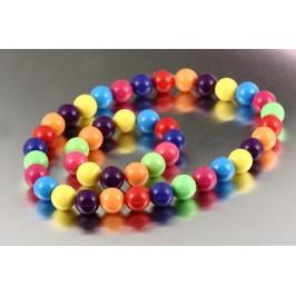 Náhrdelník s náramkem barevné perličky
