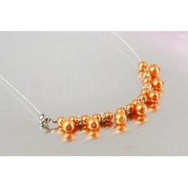 Náhrdelník perlový - oranžový