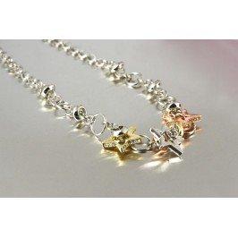 Náhrdelník hvězdičky - kombinace zlaté a stříbrné