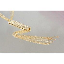 Náhrdelník štras - zlatý