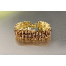 Náramek štrasový zlatý 4363