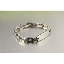 Pánský náramek z chirurgické oceli - řetěz s plackou