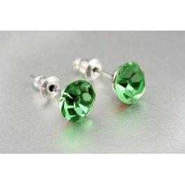 Náušnice pecky zelené - malé
