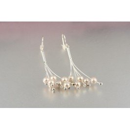Náušnice visačky s perličkami