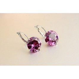 Náušnice fialový krystal