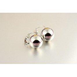 Náušnice stříbrná kulička - závěs