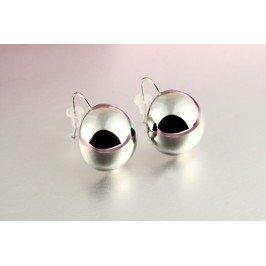 Náušnice kuličky - stříbrné