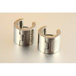 Náušnice kroužky chirurgická ocel - šachovnice
