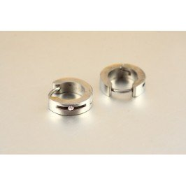 Náušnice kroužky chirurgická ocel s kamínkem