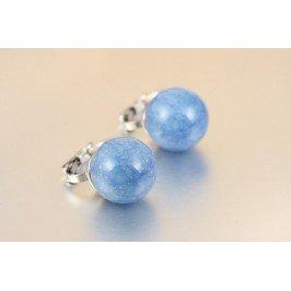 Náušnice kuličky - modré