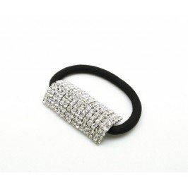 Dámská štrasová gumička - obdélník