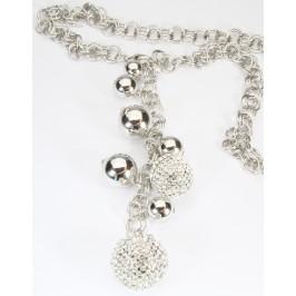 Náhrdelník se stříbrnými kuličkami