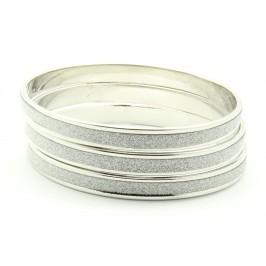 Náramek  trojitý stříbrný