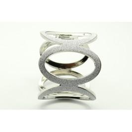 Náramek stříbrný oválné kruhy