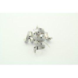 Náušnice spirálky - větší stříbrné lesklé