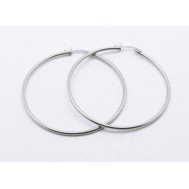 Náušnice kruhy z chirurgické oceli - střední