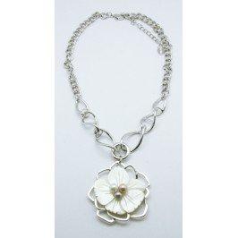 Náhrdelník Květina - stříbrný