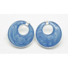 Náušnice kroužky - modré