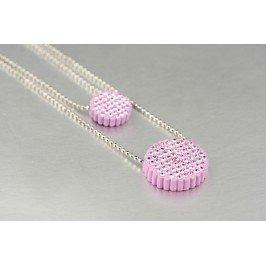 Náhrdelník placičky - fialové